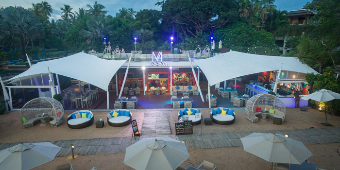The wide of M Beach Club in Maikhao, Phuket, Thailand