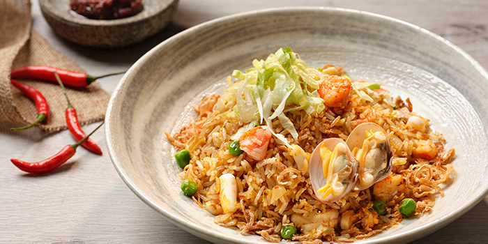 Sambal Seafood Fried Rice from Café Mosaic at Carlton Hotel in City Hall, Singapore
