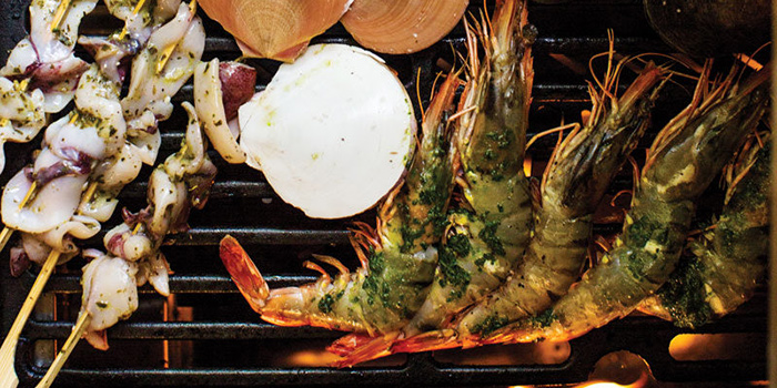 Fresh Grilled Seafood from Azul Beach Club, Legian, Bali