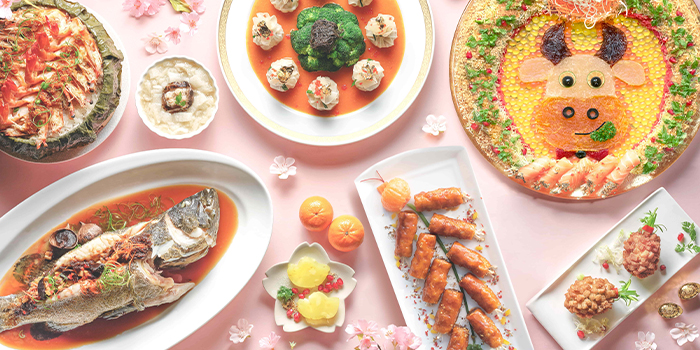 CNY Dishes from Full of Luck Restaurant in Holland Village, Singapore