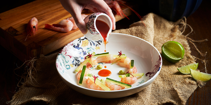 Greenland Shrimp from 15 Stamford by Alvin Leung at The Capitol Kempinski Hotel in City Hall, Singapore