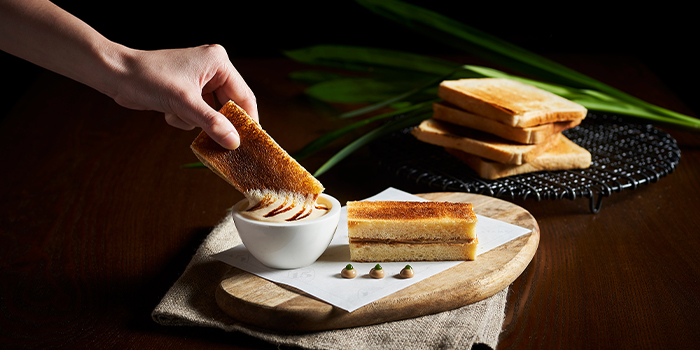 Foie Gras Kaya Toast from 15 Stamford by Alvin Leung at The Capitol Kempinski Hotel in City Hall, Singapore