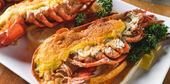 Signature lobster thermidor from Riverside Grill at Royal Orchid Sheraton Hotel & Towers, Bangkok
