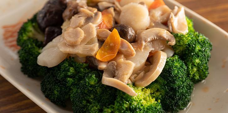 Broccoli with Scallop from 7 Wonders Seafood @ Jalan Besar in Jalan Besar, Singapore