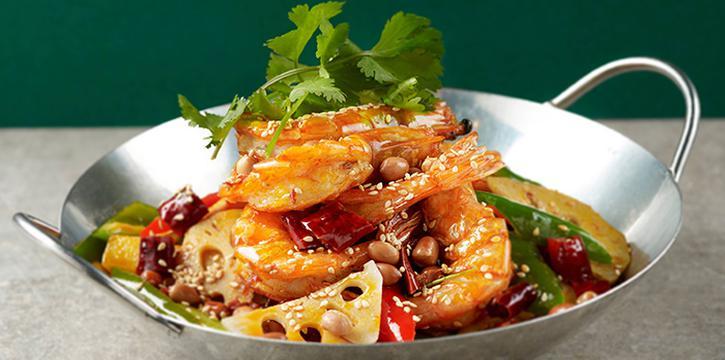 Dry Pot Prawns from Chong Qing Grilled Fish (Upp. Thomson) in Bishan, Singapore