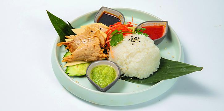 Hainanese Trick'en Rice from Green Common at VivoCity in Harbourfront, Singapore