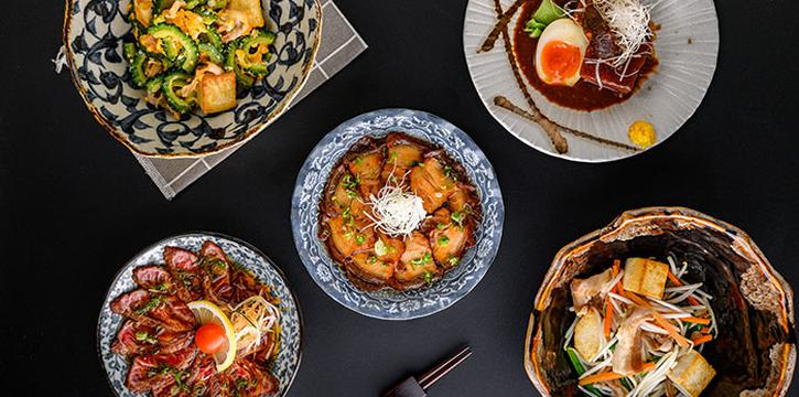 Okinawa Dishes from En Dining at Capital Tower in Tanjong Pagar, Singapore