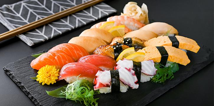 Sushi Assortment from En Dining at Capital Tower in Tanjong Pagar, Singapore
