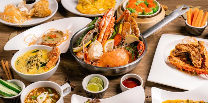 Selection of Food from Riverside Grill at Royal Orchid Sheraton Hotel & Towers, Bangkok