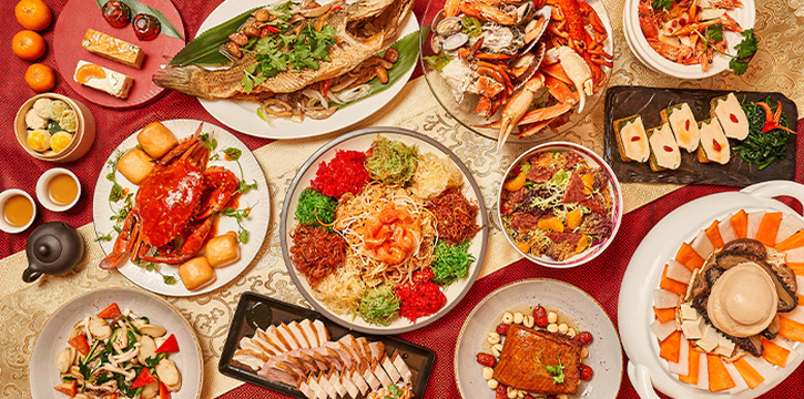 Chinese New Year Dishes from The Line in Shangri-La Hotel in Orchard, Singapore