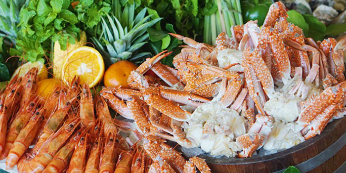 Fresh Seafood from Skyline at AVANI Riverside Bangkok Hotel 257 Charoennakorn Rd Thonburi, Bangkok