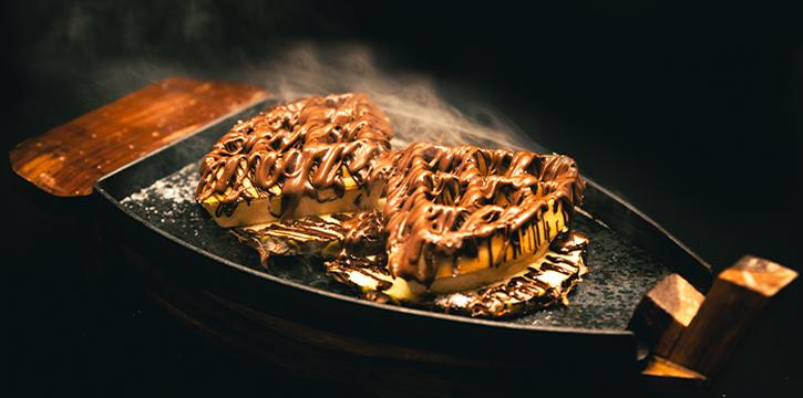 Sizzling Chocolate Waffles from Tea Villa Cafe in East Coast, Singapore