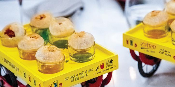 Pani Puri from ADDA at Diners Club Building in Bugis, Singapore