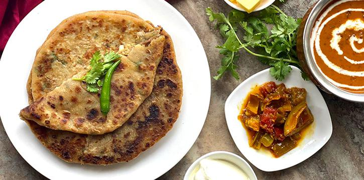 Paratha Brunch from Magic Carpet Lounge at Diners Club Building in Bugis, Singapore