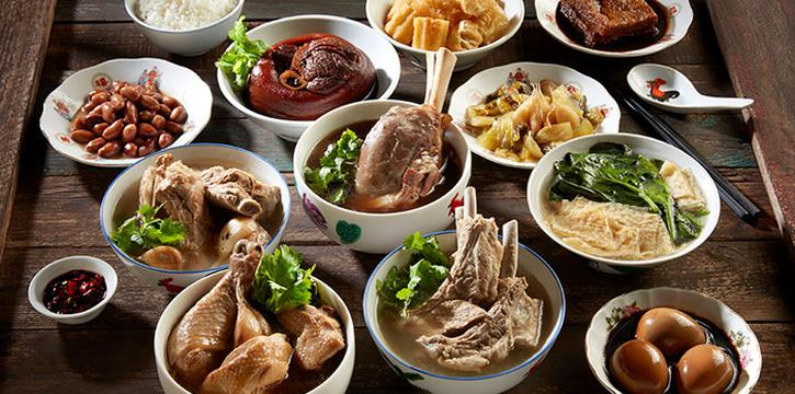 Assortment Dishes from Friends Bak Kut Teh at 100 AM Mall in Tanjong Pagar, Singapore