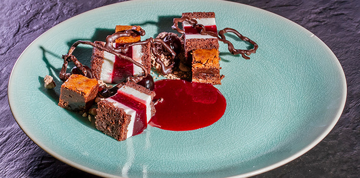 Cherry (Cherry Jelly, Chantily, Cherry Compote, Brownies) at Charcoal by TDR at Raffles Jakarta