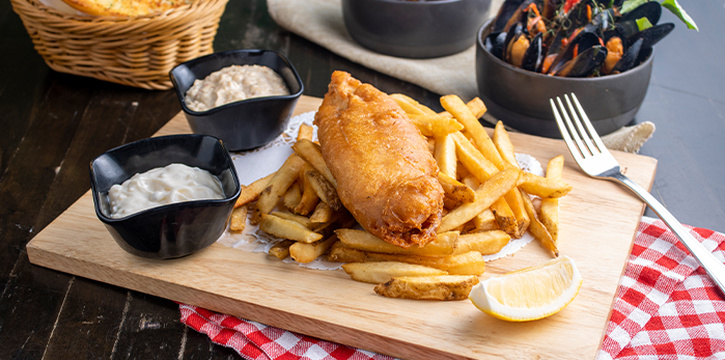 Fish & Chips from Fremantle Seafood Market in Clarke Quay, Singapore
