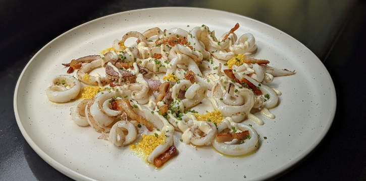 Sauteed Squid from alittle tashi in Jalan Besar, Singapore