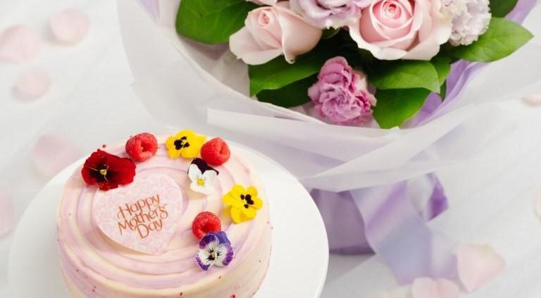 Flower Bouquet & Violet Velvet Cake (1 Pound) at Four Seasons Hotel