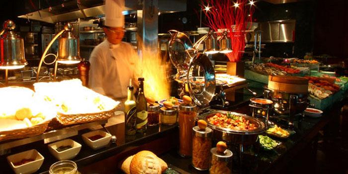 Interior of Café 2000 at M Hotel in Tanjong Pagar, Singapore